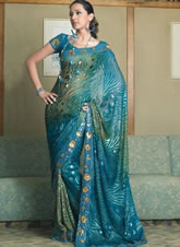 Lady wearing saree