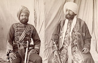 Bakshi Mulray (Governor of Gilgit) & Mehal Singh (Commanding Radur Regiment) 1865