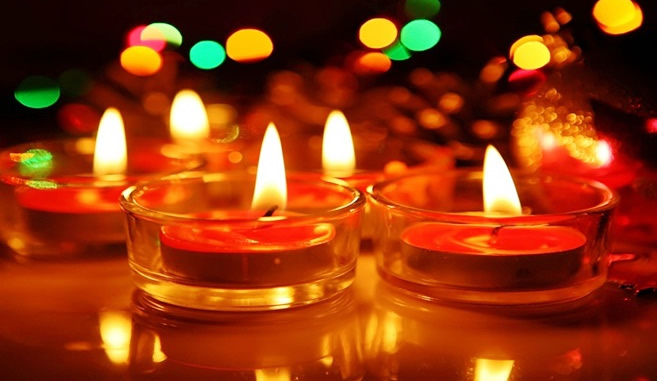 The festival of Diwali celebrated in three cultures