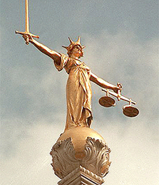 Justice tipping scales