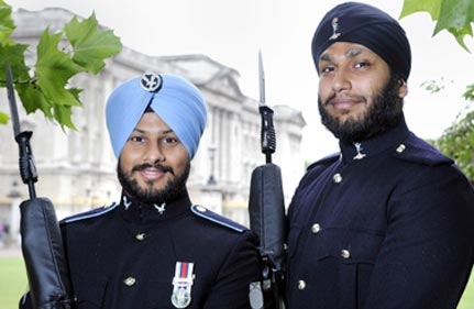 Royal guard breakthrough for Sikh soldiers