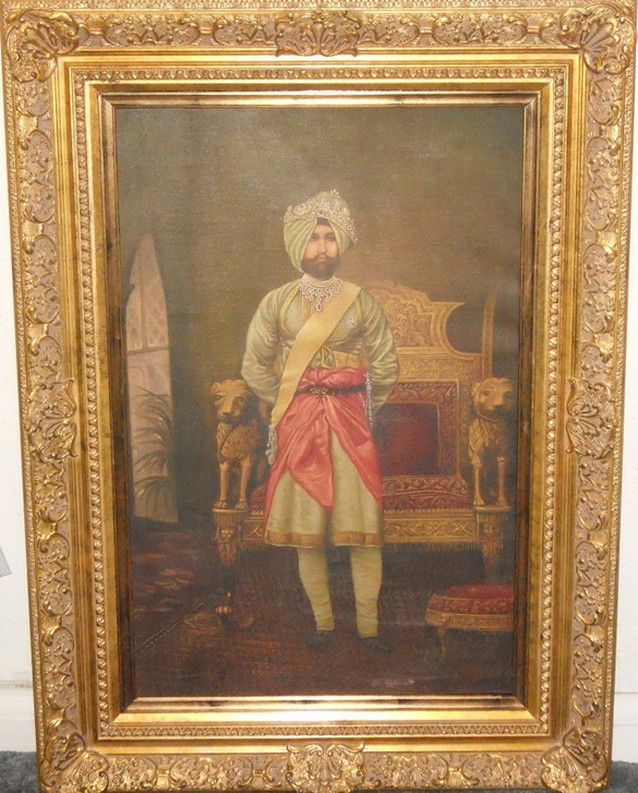 Large Painting of Rajinder Singh