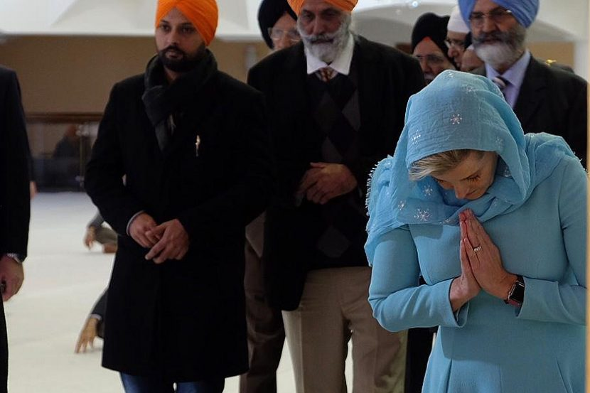 The Earl and Countess of Wessex visit Sri Guru Singh Sabha in Southall, UK