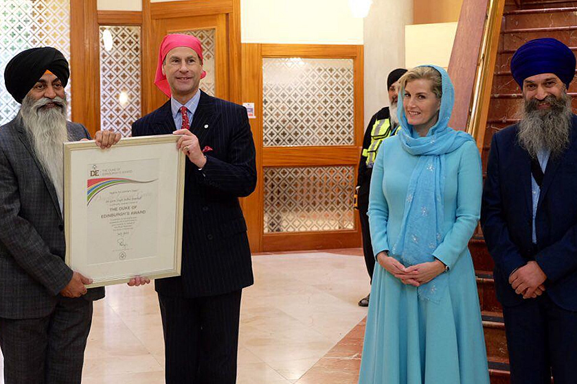 Earl and Countess of Wessex visit to Gurdwara